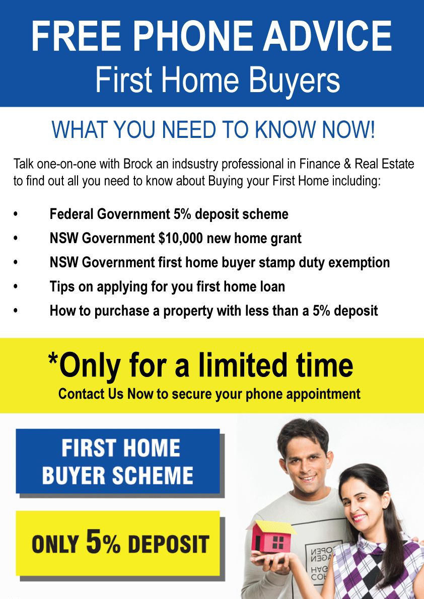 First Home Buyers Workshop with Brock April 2020 NOW AVAIALBLE AS PHONE CALLS