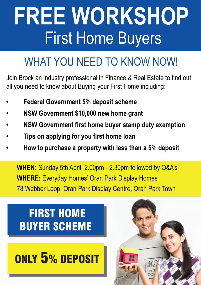 First Home Buyers Workshop with Brock April 2020